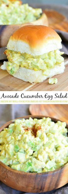 Egg salad with avocado and cucumber. #Salad #Egg #Avocado #Cucumber