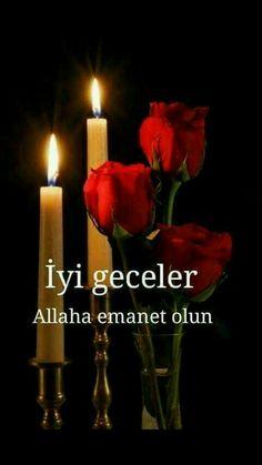 Good Night Sweet Dreams, Pillar Candles, Allah, Greeting Cards, Nighty Night, Good Night, Candles