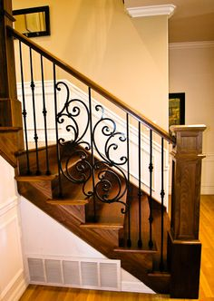 wrought iron staircase spindles - Google Search