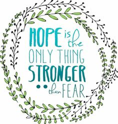 Ovarian Cancer Awareness ~  HOPE  is the Only Thing STRONGER Then FEAR