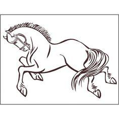 "Alphabet Garden Designs Horse 2 Wall Decal Size: 12"" H x 18"" W, Color: Dark Turquoise #ModernGarden"