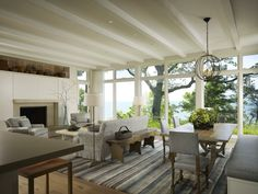 Beach House Great Room with Expansive Lake Views