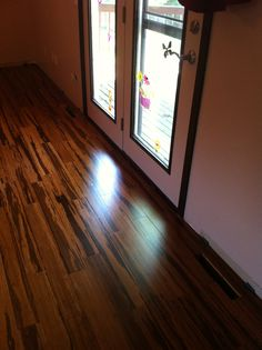 Our new bamboo floors!!