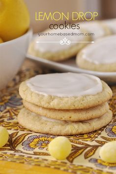 The perfect lemon cookie full of lemon goodness!
