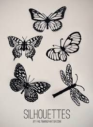 Image result for butterfly fold paper in half