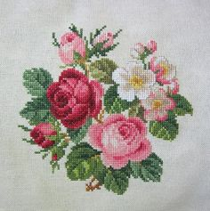 719 × 724 pixels - DIY and Crafts Cross Stitch Bird, Simple Cross Stitch, Cross Stitch Flowers, Cross Stitch Charts, Cross Stitch Designs, Cross Stitch Patterns, Simple Flower Embroidery Designs, Border Embroidery Designs, Learn Embroidery