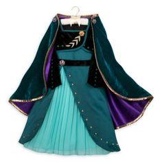 New Disney Store Frozen 2 Girls Size 5 6 Queen Anna Deluxe Costume Costume Wigs, Girl Costumes, Costume Dress, Anna Dress, Dress Up, Queen Dress, Satin Dresses, Dresses With Sleeves, Satin Vert