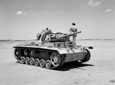 """A """"Mark III Special"""" captured after the second and last Battle of El Alamein, actually a Panzer III cm Ausf. L, tropicalized. Panzer Iii, Afrika Corps, North African Campaign, Military Armor, Ww2 Photos, World Of Tanks, Ww2 Tanks, German Army, Armored Vehicles"""