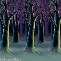 ddi 1277325 spooky forest trees backdrop case of 18 halloween scene setterstree