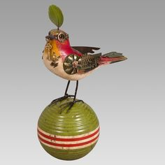 made from old parts . . . mullanium songbirds from MUSEUM OUTLETS  #recycled  #songbirds  #mullanium