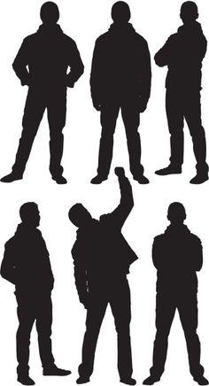 Vectores libres de derechos: Multiple images of a man in…