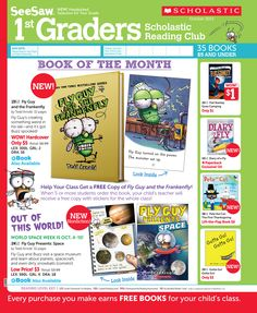 It's the October 2013 Scholastic Reading Club Flyer for 1st Graders!