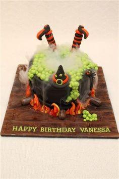 Cauldron Halloween Cake