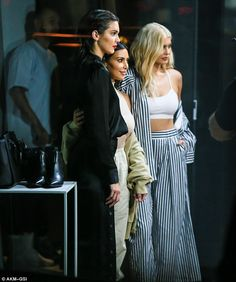 Kim was joined by her youngest siblings Kendall and Kylie Jenner at a Samsung event, where the trio posed up for photos