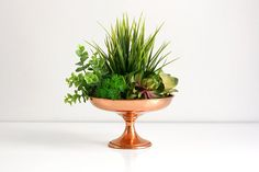 SALE 30% OFF Mid Century Copper Pedestal Bowl by Coppercraft Guild