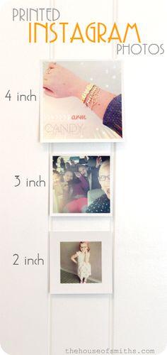 Printed Instagram Photo Sizes