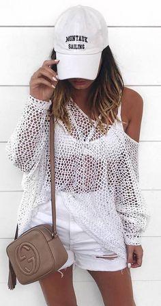 summer casual style / all white everything