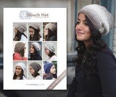 9 Slouch Hat #Crochet Patterns E-Book  |  by Little Monkeys Crochet