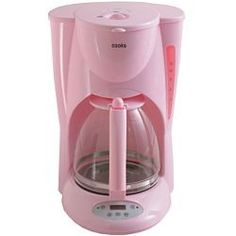 Cooks Coffee Maker (in pink, of course!).  Got mine through JC Penneys, and it is the same shade of pink as Kitchenaid and Cuisinart products.