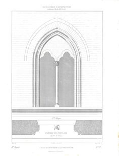 1861 Architectural Drawing Window Chateau de Conflans by carambas, $22.00