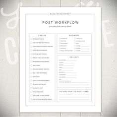 Blog Management Worksheets 5 Modern by LaurieCosgroveDesign Blog Planner, Worksheets, Improve Yourself, Management, Things To Come, Printables, Templates, Writing, How To Plan