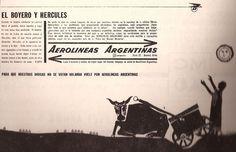 Para que nuestras divisas no se vayan volando vuele por Aerolíneas Argentinas  #retro #argentina