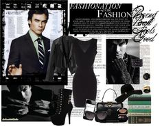 """""""Vixen (or vampire?) In Black"""" by cmp326 on Polyvore"""