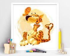 Items similar to Cute Jaguar. Children Playroom Decor on Etsy Children Playroom, Art Children, Art Wall Kids, Wall Art, Playroom Decor, Jaguar, Pikachu, My Etsy Shop, Art Prints