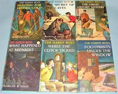 No Nancy Drew for me, I loved reading the Hardy Boys books.   http://series-books.blogspot.com/2011/08/hardy-boys-first-picture-cover-books.html