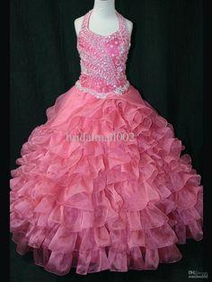 stunning-coral-pink-ruffle-ball-gowns-organza.jpg (1200×1600)