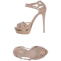 Le Silla Sandals ($265) ❤ liked on Polyvore featuring shoes, sandals, beige, buckle sandals, ankle strap sandals, beige sandals, beige leather sandals and leather ankle strap sandals