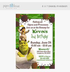 Shrek Birthday Invitation 5 X 7 Digital by PaperHouseStudios, $10.00