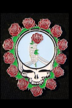 NEW LIMITED EDITION GRATEFUL DEAD STEAL YOUR FACE FLOWER CHAKRA HAT PIN
