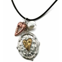 Mama Designs Handmade Inspirational Heart Charm-style Leather Necklace