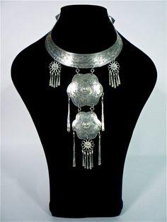 Stunning Eastern Tribal Drop Choker necklace by HuzzarHuzzar, £35.00