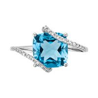 I love this ring!     Fred Meyer Jewelers | Blue Topaz and Diamond Fashion Ring