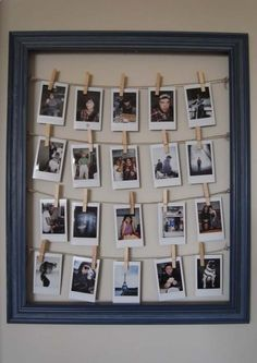 Cool DIY Photo Projects and Craft Ideas for Photos - Frame For Polaroids - Easy Ideas for Wall Art, Collage and DIY Gifts for Friends. Wood, Cardboard, Canvas, Instagram Art and Frames. Creative Birthday Ideas and Home Decor for Adults, Teens and Tweens
