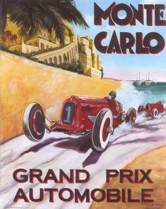 Vintage Auto Racing Posters on Vintage Auto Racing Posters  Art Prints Monaco…