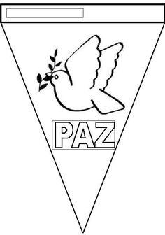 banderines para decorar en el día de la paz Harmony Day, Teaching Spanish, Christmas Lights, Coloring Pages, Origami, Projects To Try, Teacher, Website, Crafts