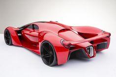 Zieke Ferrari F80 Concept gaat 500 km/u - FHM.nl