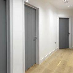 Ardosia Grey Internal Door - JB Kind - July 19 2019 at Interior Door Colors, Interior Door Styles, Painted Interior Doors, Black Interior Doors, Gray Interior, Painted Doors, Contemporary Interior Doors, Grey Internal Doors, Grey Doors