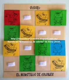 """Hoy os enseño el último juego del conjunto de juegos de mesa tradicionales basados en """"El monstruo de colores"""" que estrenaremos en la Semana... Monster Co, Spanish Colors, Cycle 1, Kindergarten, Pre School, Activities, Kids, Crafts, Ideas Para"""