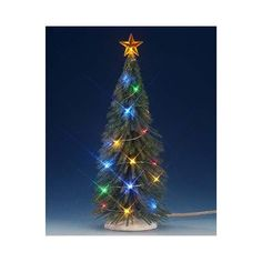 Muted green, brush-like branches, creating a bountiful spruce for twinkling multi lights. Lemax Christmas Village, Lemax Village, Christmas Tree, Christmas Ornaments, Spruce Tree, Twinkle Twinkle, Lights, Branches, Holiday Decor