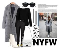 """""""Untitled #317"""" by morrggzz ❤ liked on Polyvore featuring WithChic, Kinross, River Island, Gianvito Rossi, Off-White, contestentry and nyfwstreetstyle"""