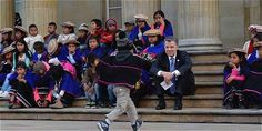 Unos 1.500 indígenas se movilizaron desde Cauca hasta Bogotá.