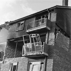 Fortwilliam Parade Belfast - Bomb damage, 1976.