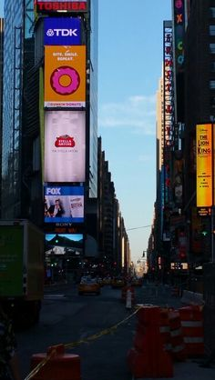 NYC Times Square early in the morning.