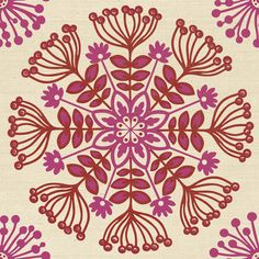 """Edgy """"Swedish Floral"""" #wallpaper is the perfect eclectic folk alternative print for your walls. The latest design from our famed Design by Color™ program, for the latest in #wallcoverings please visit on.fb.me/11awool"""