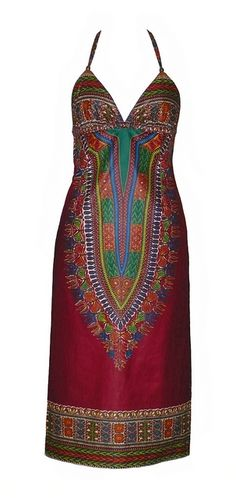 """Dashiki Dress"" african dress by Jahnhoy Rootical Wear"