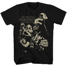 Big & Tall Star Wars Character Tee, Men's, Size: Xl Tall, Black